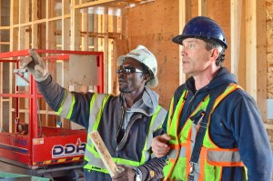 Volunteer builders help shape the Wellspring Edmonton building