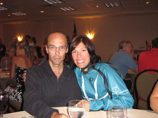 Sandy Coull and her brother Les (left) at the 2008 Cancervive Warrior Reception in Philadelphia.